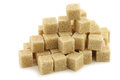 Sugar cane cubes Royalty Free Stock Photo