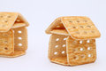 Sugar cookies house sweet on white background Stock Photography