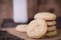 Sugar Cookies and milk Royalty Free Stock Photo