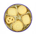 Sugar Cookies in Round Tin Stock Photography