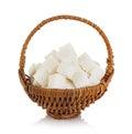 Sugar Cubes In A Brown Wicker ...