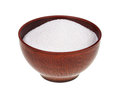 Sugar earthen bowl isolated white background Royalty Free Stock Photos