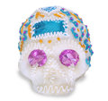 Sugar face a candy in skull form made in mexico to celebrate el día de muertos Stock Photos