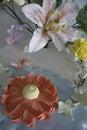 Sugar flower for cake decoration Stock Photo