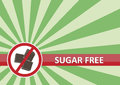Sugar Free Banner Royalty Free Stock Photography