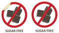 Sugar free icons vector stickers and for allergen products Stock Image
