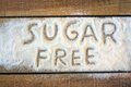 A sugar  free word with background Royalty Free Stock Photo