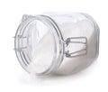 Sugar in glass jar Royalty Free Stock Photo