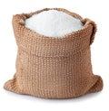Sugar Granules In Bag Isolated...