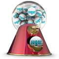 Sugar Gum Balls Candy Dispenser Bubblegum Tooth Decay