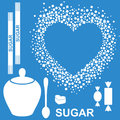 Sugar isolated objects vector illustration eps Stock Image