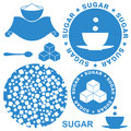 Sugar isolated objects on white background vector illustration eps Stock Image