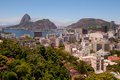The Sugar Loaf and Botafogo neighborhood Royalty Free Stock Photos