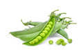 Sugar peas isolated on white Royalty Free Stock Photo