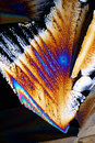 Sugar in polarized light Royalty Free Stock Photo
