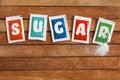 Sugar sachets Royalty Free Stock Photo