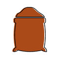 Sugar sack isolated icon