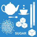 Sugar set isolated objects vector illustration eps Stock Photos