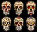 Sugar skull day of the dead set