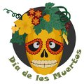 Sugar Skull and Flowers for Day of the dead Royalty Free Stock Photo