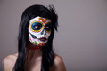 Sugar skull girl portrait Royalty Free Stock Photos