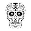 Sugar Skull Line Art