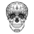 Sugar skull. The traditional symbol of the Day of the Dead. Royalty Free Stock Photo
