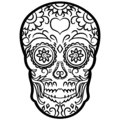 Sugar skull vector eps Hand drawn, Vector, Eps, Logo, Icon, silhouette Illustration by crafteroks for different uses. Visit my web