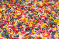 Sugar sprinkles closeup multicolor for cake decoration Royalty Free Stock Photography