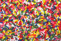 Sugar sprinkles texture multicolor for cake decoration abcstract background Royalty Free Stock Photography