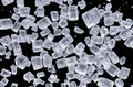 Sugar under microscopic view Royalty Free Stock Photos