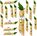 Sugarcane cartoon isolated white background Royalty Free Stock Photography