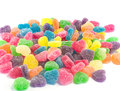 Sugared candy hearts close up of for valentine s day Royalty Free Stock Photo