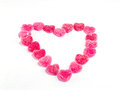Sugared candy hearts close up of for valentine s day Royalty Free Stock Photography