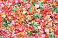 Sugared popcorn texture of colorful Stock Photos