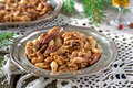 Sugared and rum glazed nuts spiced Royalty Free Stock Photography