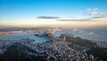 Sugarloaf mountain rio de janeiro view from corcovado to Royalty Free Stock Photo