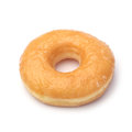 Sugary donut isolated on white Stock Images