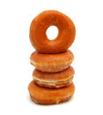 Sugary donut isolated on a white background Royalty Free Stock Photography
