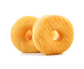 Sugary donut isolated on a white background Stock Images