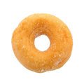 Sugary donut isolated on a white background Royalty Free Stock Photo