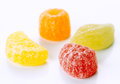 Sugary jellies group of white base Royalty Free Stock Images