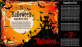 Suggestive Hallowen Party Flyer Royalty Free Stock Images