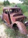 Suicide door rust bucket Royalty Free Stock Photo