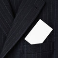 Suit with blank business card in pocket Royalty Free Stock Photo