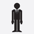 Suit man silhouette silhouetted in with tie Stock Photography
