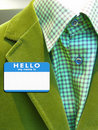 Suit with name badge Royalty Free Stock Photo