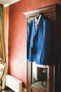 Suit on Wardrobe Royalty Free Stock Photo
