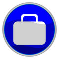 Suitcase button Royalty Free Stock Photo