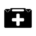 Suitcase first aid medical pictogram
